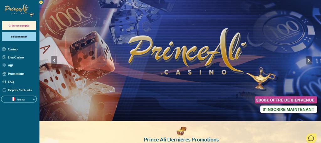Prince Ali Casino Inscription