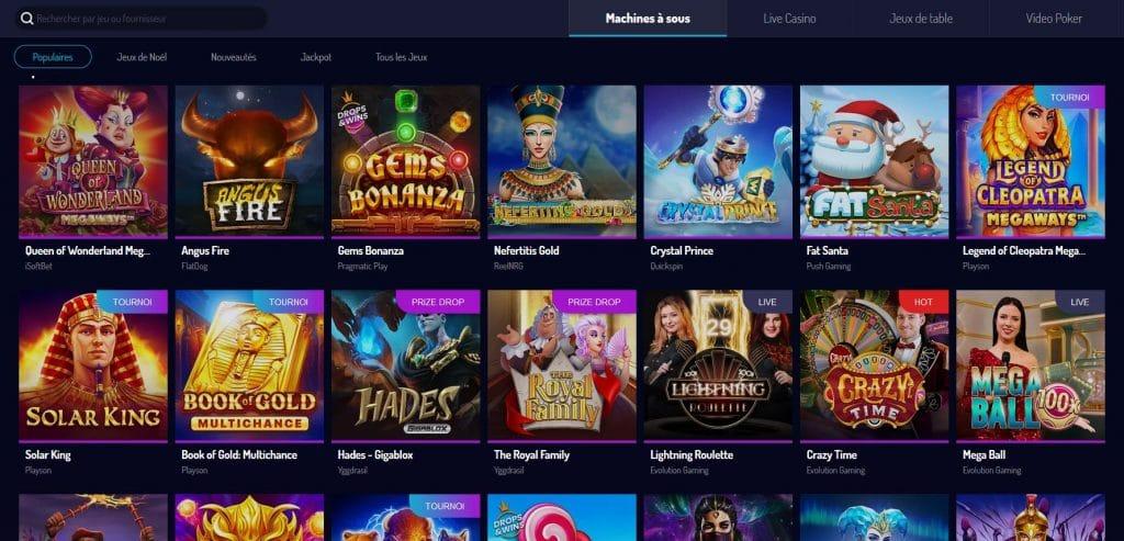 Machines à sous sur le casino Lucky8