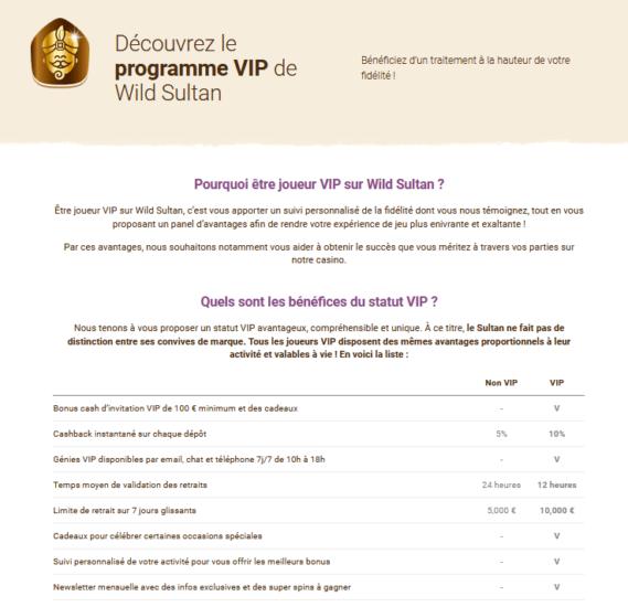 VIP Wild Sultan